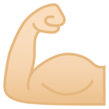 Flexed Biceps: Light Skin Tone on Google Android 8.0