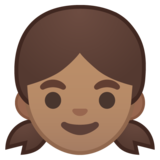 Girl: Medium Skin Tone on Google Android 8.0