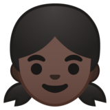 Girl: Dark Skin Tone on Google Android 8.0