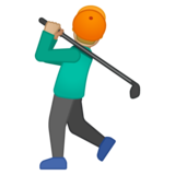 Person Golfing: Medium-Light Skin Tone on Google Android 8.0