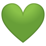 Green Heart on Google Android 8.0