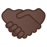 Handshake: Dark Skin Tone on Google Android 8.0