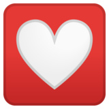 Heart Decoration on Google Android 8.0