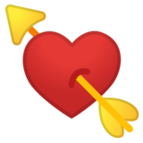 Heart with Arrow on Google Android 8.0