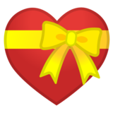 Heart with Ribbon on Google Android 8.0