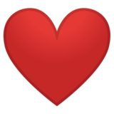 Red Heart on Google Android 8.0