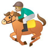 Horse Racing: Medium-Light Skin Tone on Google Android 8.0