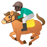 Horse Racing: Dark Skin Tone on Google Android 8.0