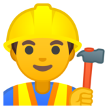 Man Construction Worker on Google Android 8.0