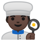 Man Cook: Dark Skin Tone on Google Android 8.0