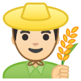 Man Farmer: Light Skin Tone on Google Android 8.0