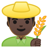 Man Farmer: Dark Skin Tone on Google Android 8.0