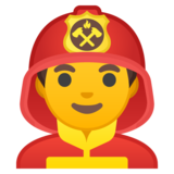 Man Firefighter on Google Android 8.0