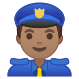 Man Police Officer: Medium Skin Tone on Google Android 8.0