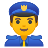 Man Police Officer on Google Android 8.0