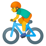 Man Biking on Google Android 8.0