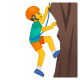 Man Climbing on Google Android 8.0