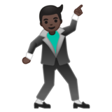 Man Dancing: Dark Skin Tone on Google Android 8.0
