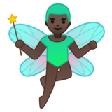 Man Fairy: Dark Skin Tone on Google Android 8.0