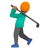 Man Golfing: Medium Skin Tone on Google Android 8.0