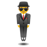 Man in Suit Levitating on Google Android 8.0