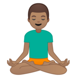 Man in Lotus Position: Medium Skin Tone on Google Android 8.0