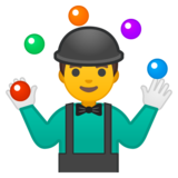 Man Juggling on Google Android 8.0