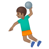 Man Playing Handball: Medium Skin Tone on Google Android 8.0