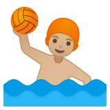 Man Playing Water Polo: Medium-Light Skin Tone on Google Android 8.0