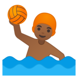 Man Playing Water Polo: Medium-Dark Skin Tone on Google Android 8.0