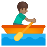 Man Rowing Boat: Medium Skin Tone on Google Android 8.0