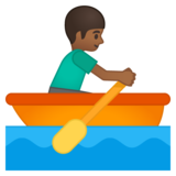 Man Rowing Boat: Medium-Dark Skin Tone on Google Android 8.0