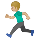 Man Running: Medium-Light Skin Tone on Google Android 8.0