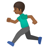 Man Running: Medium-Dark Skin Tone on Google Android 8.0