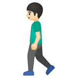 Man Walking: Light Skin Tone on Google Android 8.0