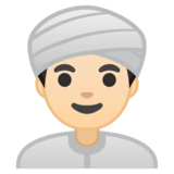 Man Wearing Turban: Light Skin Tone on Google Android 8.0