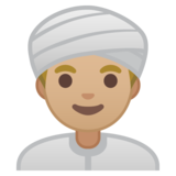 Man Wearing Turban: Medium-Light Skin Tone on Google Android 8.0