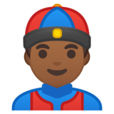 Person With Skullcap: Medium-Dark Skin Tone on Google Android 8.0