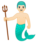 Merman: Light Skin Tone on Google Android 8.0