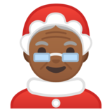 Mrs. Claus: Medium-Dark Skin Tone on Google Android 8.0