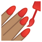 Nail Polish: Medium Skin Tone on Google Android 8.0