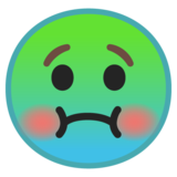 Nauseated Face on Google Android 8.0