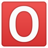 O Button (Blood Type) on Google Android 8.0