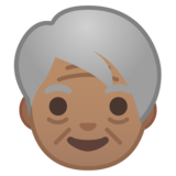 Older Person: Medium Skin Tone on Google Android 8.0