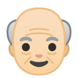 Old Man: Light Skin Tone on Google Android 8.0
