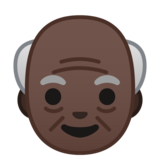 Old Man: Dark Skin Tone on Google Android 8.0