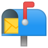 Open Mailbox with Raised Flag on Google Android 8.0