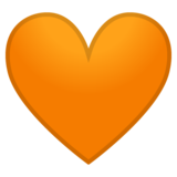 Orange Heart on Google Android 8.0