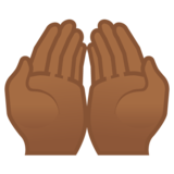 Palms Up Together: Medium-Dark Skin Tone on Google Android 8.0