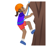 Person Climbing: Medium Skin Tone on Google Android 8.0